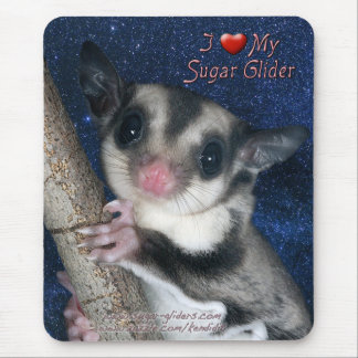 I Love my Sugar Glider - Cutest Glider series Mouse Pad