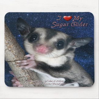 I Love my Sugar Glider - Cutest Glider series Mousepads