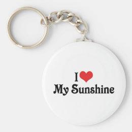 I Love My Sunshine Keychain