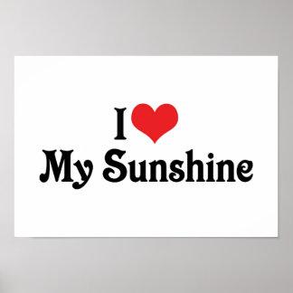 I Love My Sunshine Poster