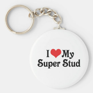 I Love My Super Stud Keychain