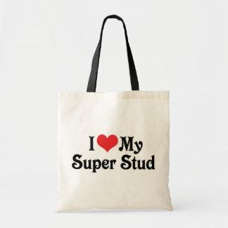 I Love My Super Stud Tote Bag