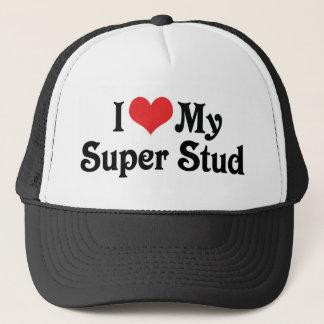 I Love My Super Stud Trucker Hat