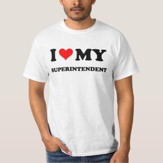 I Love My Superintendent Tee Shirts