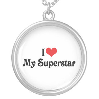 I Love My Superstar Silver Plated Necklace