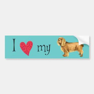I Love my Sussex Spaniel Bumper Sticker