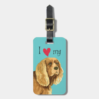 I Love my Sussex Spaniel Bag Tags