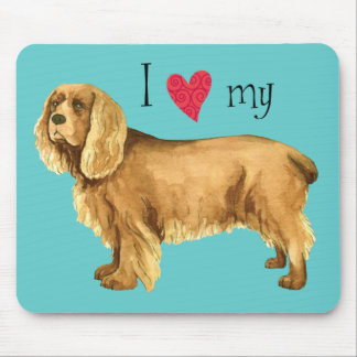 I Love my Sussex Spaniel Mouse Pad