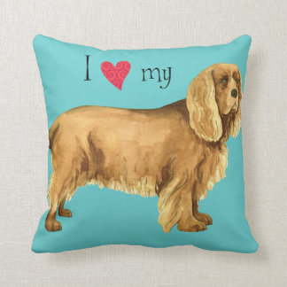 I Love my Sussex Spaniel Pillow