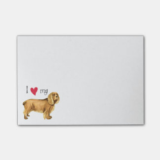 I Love my Sussex Spaniel Post-it® Notes
