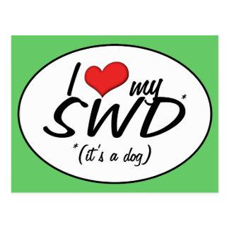 I Love My SWD (It's a Dog) Postcard