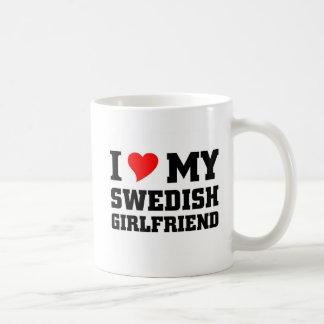 I love my swedish girlfriend classic white coffee mug