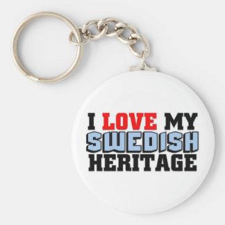 I love my Swedish Heritage Keychain