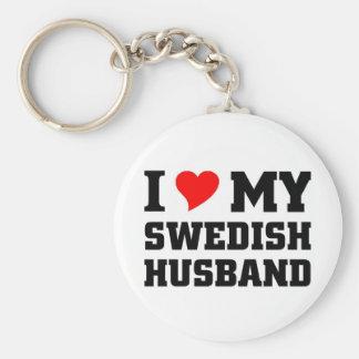I love my swedish husband keychain