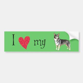 I Love my Swedish Vallhund Bumper Sticker