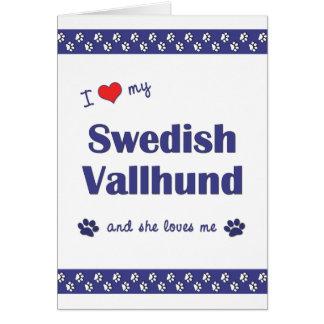 I Love My Swedish Vallhund (Female Dog) Card
