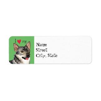I Love my Swedish Vallhund Label