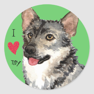 I Love my Swedish Vallhund Sticker