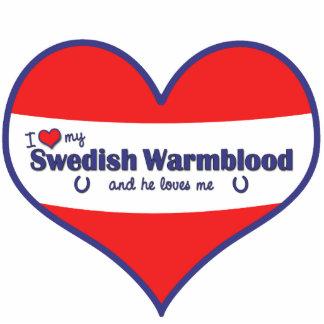 I Love My Swedish Warmblood (Male Horse) Photo Sculpture