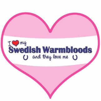 I Love My Swedish Warmbloods (Multiple Horses) Photo Sculptures
