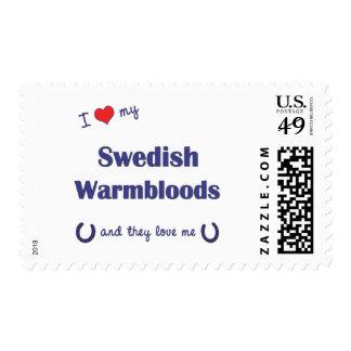 I Love My Swedish Warmbloods (Multiple Horses) Stamp