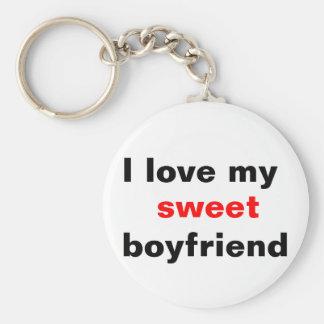 I love my sweet boyfriend keychain