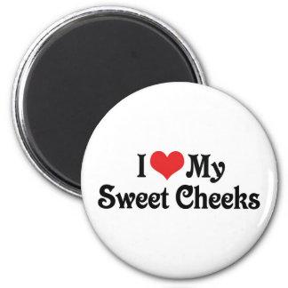 I Love My Sweet Cheeks 2 Inch Round Magnet