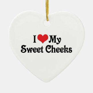 I Love My Sweet Cheeks Ceramic Ornament