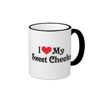 I Love My Sweet Cheeks Ringer Mug