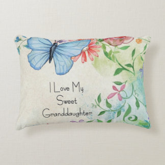 I Love My Sweet Granddaughter Accent Pillow
