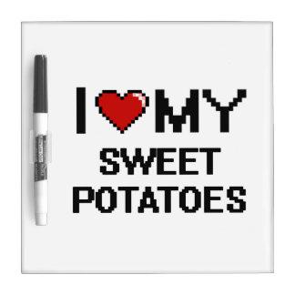 I Love My Sweet Potatoes Digital design Dry Erase Whiteboards