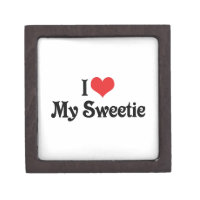 I Love My Sweetie Jewelry Box