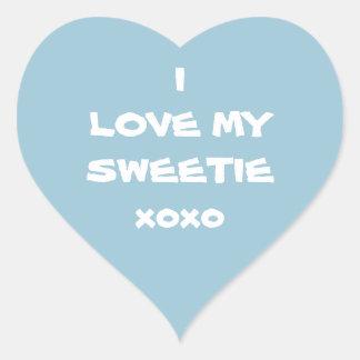 I LOVE MY  SWEETIE xoxo Sticker - Creator RjFxx.