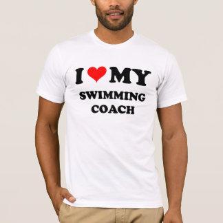 I Love My Swimming Coach T-Shirt