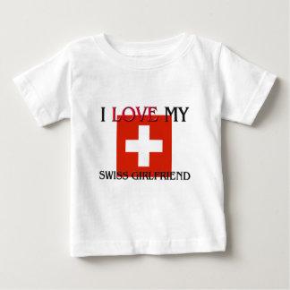 I Love My Swiss Girlfriend Baby T-Shirt