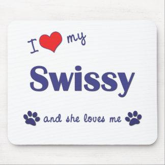 I Love My Swissy (Female Dog) Mouse Pad