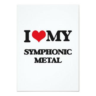 "I Love My SYMPHONIC METAL 5"" X 7"" Invitation Card"