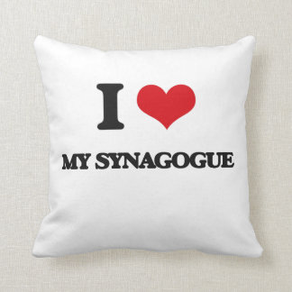 I love My Synagogue Throw Pillows