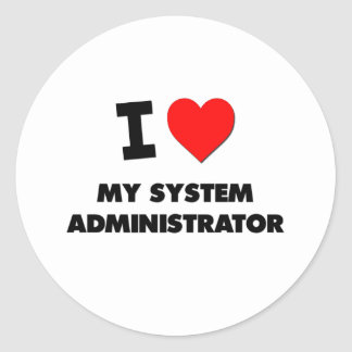 I love My System Administrator Stickers