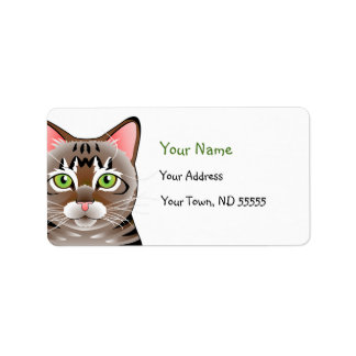I Love My Tabby address labels
