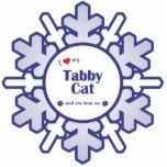 I Love My Tabby Cat (Female Cat) Photo Cut Out