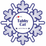 I Love My Tabby Cat (Male Cat) Photo Cutout