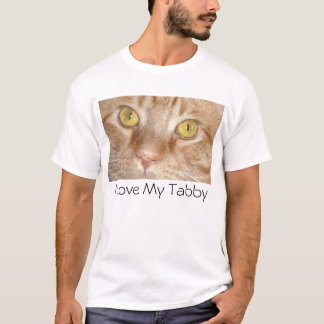I Love My Tabby Cat T-Shirt