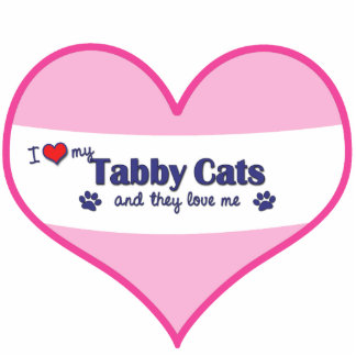 I Love My Tabby Cats (Multiple Cats) Photo Sculpture Ornament