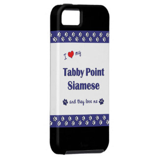 I Love My Tabby Point Siamese (Multiple Cats) iPhone SE/5/5s Case