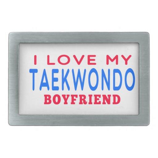 I Love My Taekwondo Boyfriend Belt Buckles