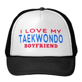 I Love My Taekwondo Boyfriend Mesh Hats