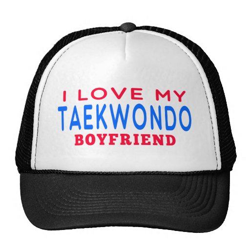 I Love My Taekwondo Boyfriend Trucker Hat