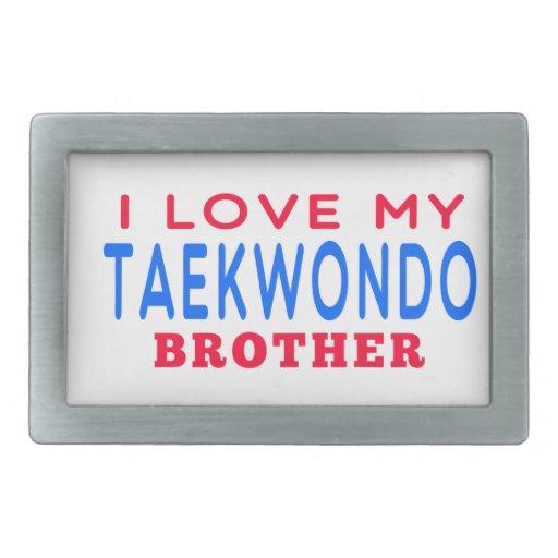 I Love My Taekwondo Brother Rectangular Belt Buckle