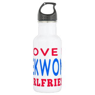 I Love My Taekwondo Girlfriend 18oz Water Bottle
